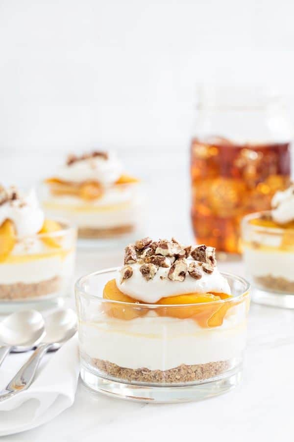 No Bake Peach Cheesecake capture everything there is to love about summer. These cheesecakes are sure to become one of your new faves!