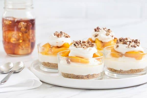 No Bake Peach Cheesecake capture everything there is to love about summer. Easy and totally delicious!