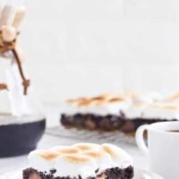 Peanut Butter Cup S'mores Brownies