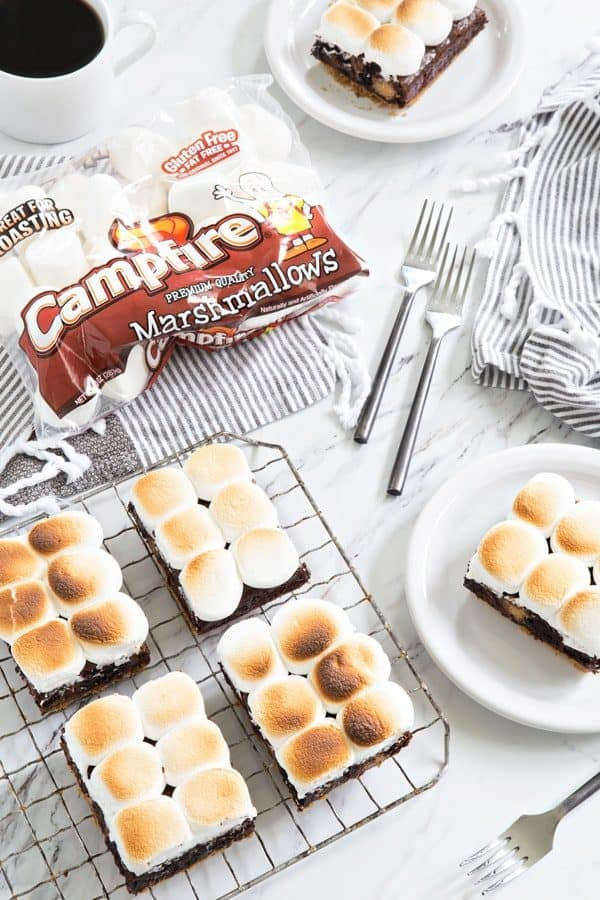 Peanut Butter Cup S'mores Brownies will easily be your new favorite dessert. Super simple and super delish!