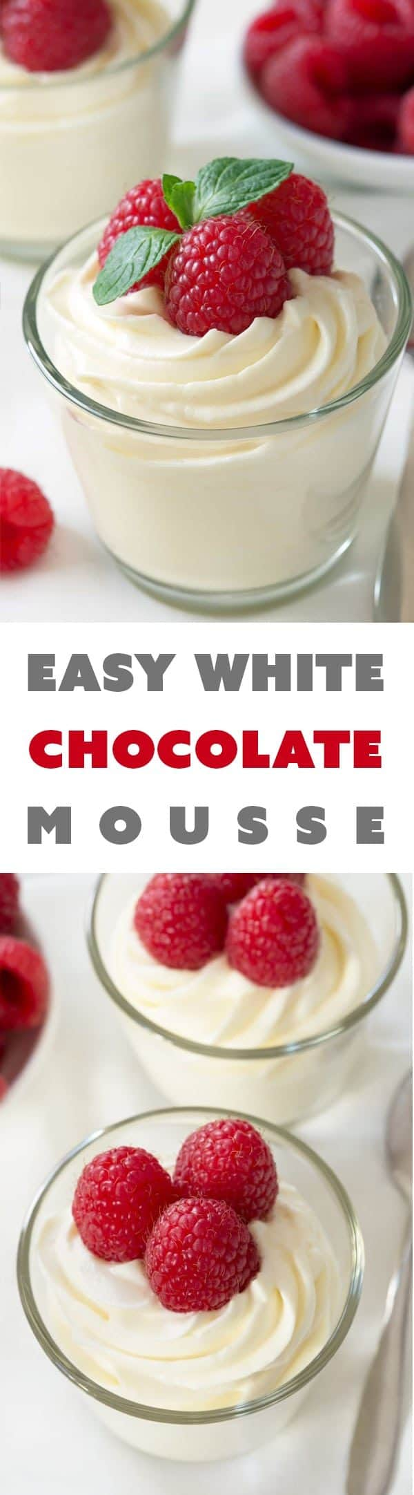Easy White Chocolate Mousse - My Baking Addiction