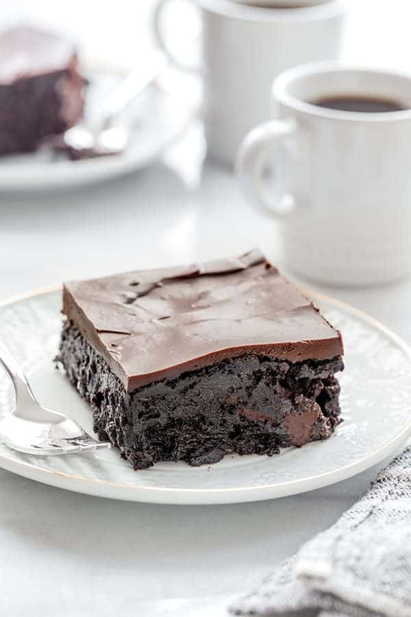 Chocolate Zucchini Cake is rich, ultra-moist and the perfect cake for the chocolate lover in your life.