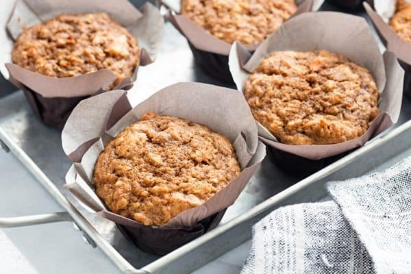 Morning Glory Muffins are sweet, moist and ideal for busy mornings!  And they're an awesome way to sneak in some yummy veggies!