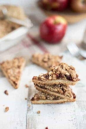 Apple Cranberry Crumble Bars are a sweet and crunchy treat that celebrates the fall season. Perfect with your morning cup of coffee!