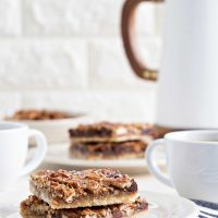 Chocolate Bourbon Pecan Bars