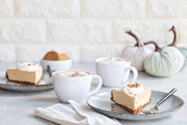 Marshmallow Pumpkin Pie is an unexpected twist on a classic fall dessert. The  spicy gingersnap crust and light, silky texture is sure to make this pie one of your new favorites.