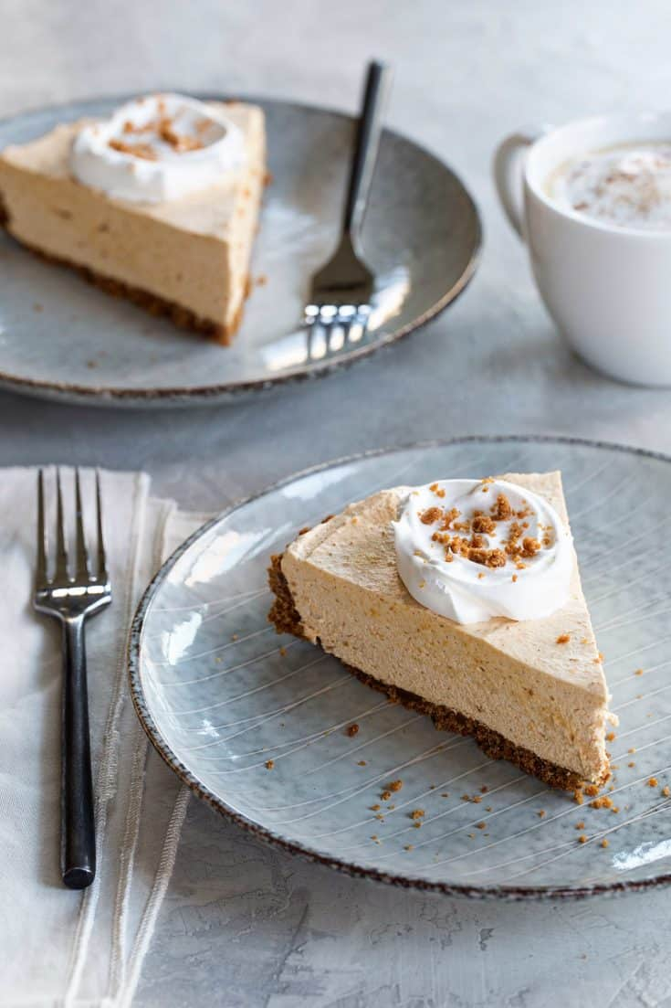 Marshmallow Pumpkin Pie is an unexpected twist on a classic fall dessert. The gingersnap crust and light texture is sure to make this pie one of your new favorites.