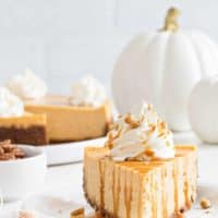 Sweet Potato Cheesecake is smooth, creamy and loaded with fall flavors. The buttery gingersnap crust makes it irresistible.