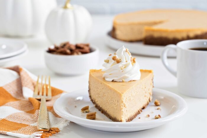 Sweet Potato Cheesecake is smooth, creamy and loaded with fall flavors. This is fall dessert perfection.