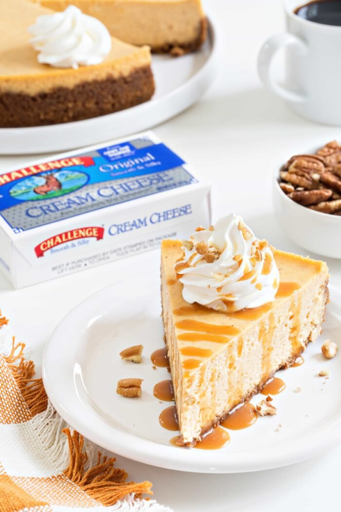 Sweet Potato Cheesecake is smooth, creamy and loaded with fall flavors. This is sure to become one of your favorite fall desserts!