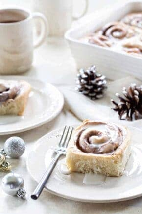 Overnight Chai Spice Sweet Rolls are the perfect breakfast for Christmas morning. Make them the night before and let them rise while you're opening gifts.