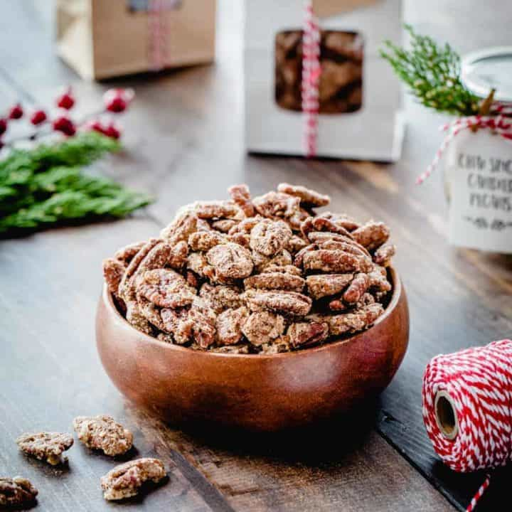 Chai Spiced Candied Pecans