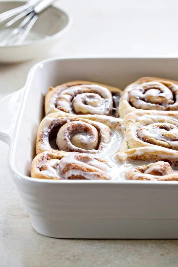 Overnight Chai Spice Sweet Rolls are the perfect breakfast for Christmas morning. Make them the night before and let them rise while you're opening gifts. Who could resist?