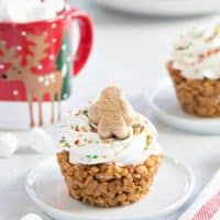 Gingerbread Marshmallow Treat Cupcakes