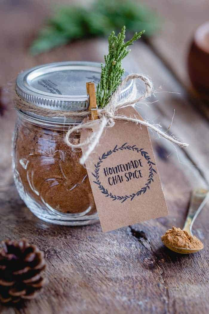 This homemade Chai Spice Blend is the perfect warm and cozy spice mixture for the holiday season. Add it to pancakes, oatmeal, cakes, lattes and more!