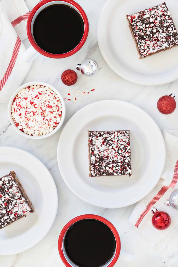 Chocolate Peppermint Scotcheroos are a fun and festive spin on a classic no-bake dessert. Perfect for the holidays season!