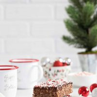 Chocolate Peppermint Scotcheroos