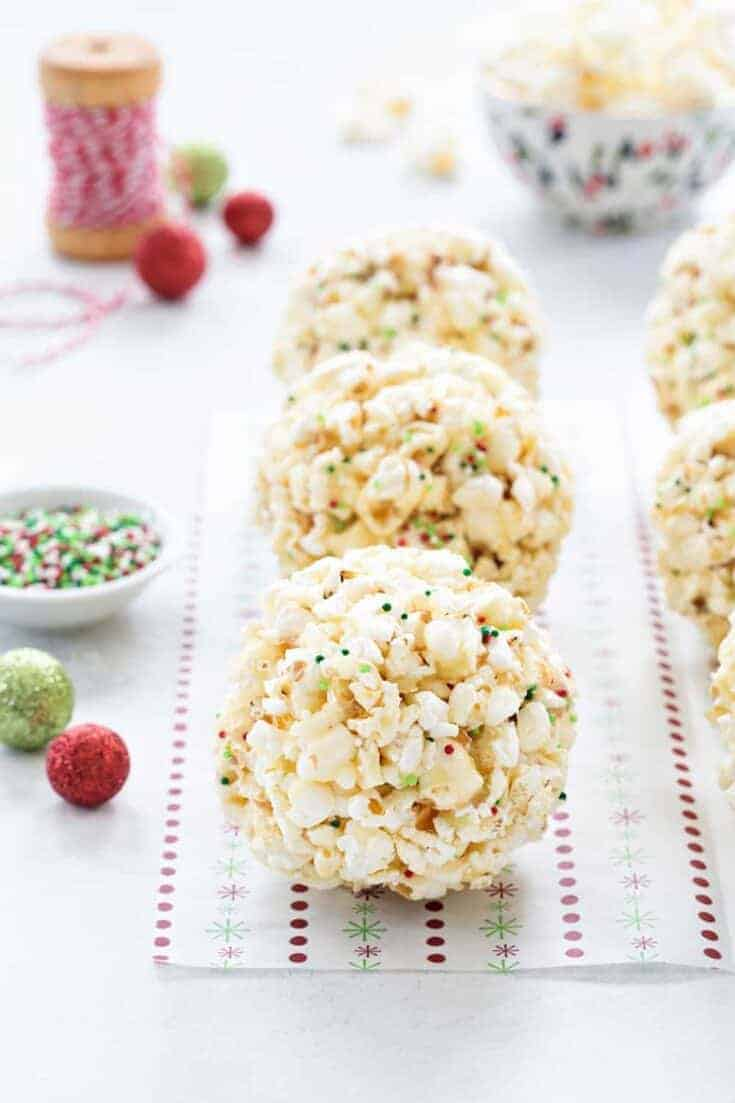 Popcorn Balls are a fun and delicious way to celebrate the season. This simple recipe is a great base for so many flavor combinations – the possibilities are endless!