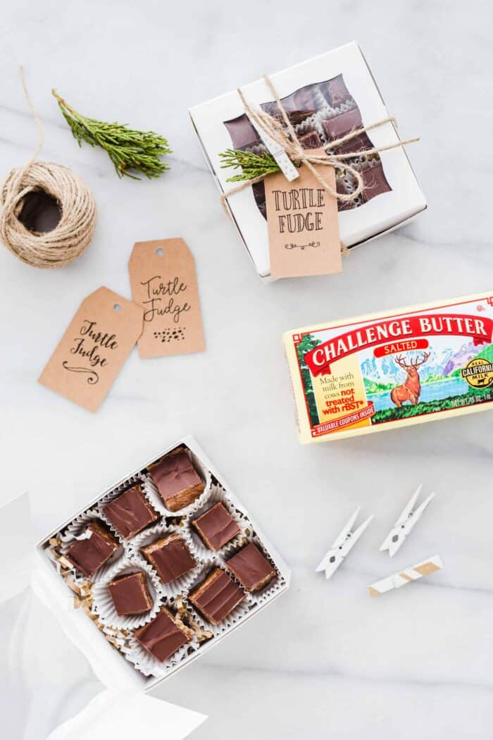 Turtle Fudge is rich, delicious and the perfect addition to any holiday dessert plate! So simple and delicious!