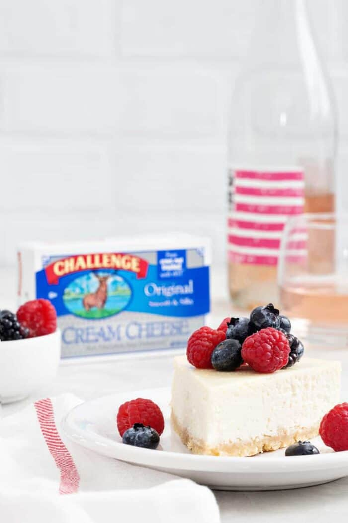 Rosé Cheesecake is rich, creamy, and full of delicious flavors. This is THE cheesecake for the  Rosé lover in your life!