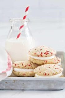 Easy Sugar Cookies come together in a snap! No chilling, rolling, or cookie cutters required!