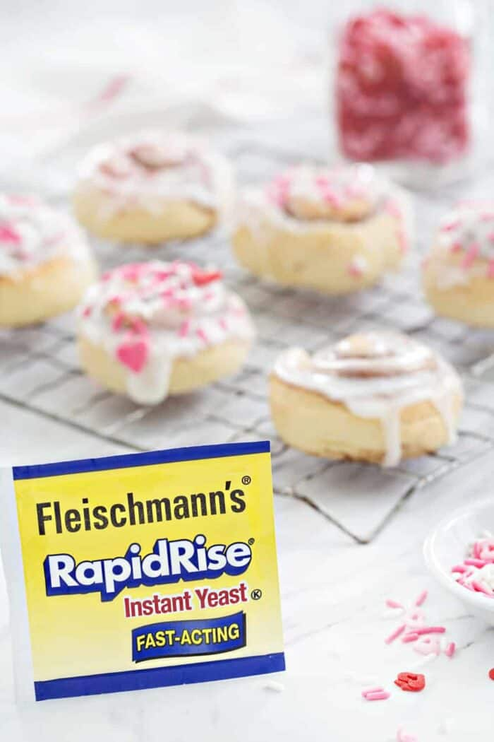 Mini Cinnamon Rolls are a fun and delicious way to celebrate any holiday! The perfect homemade treat!