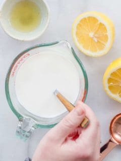 Looking for a way to make a homemade buttermilk substitute at home? I can teach you how to pull it together in 5 minutes!