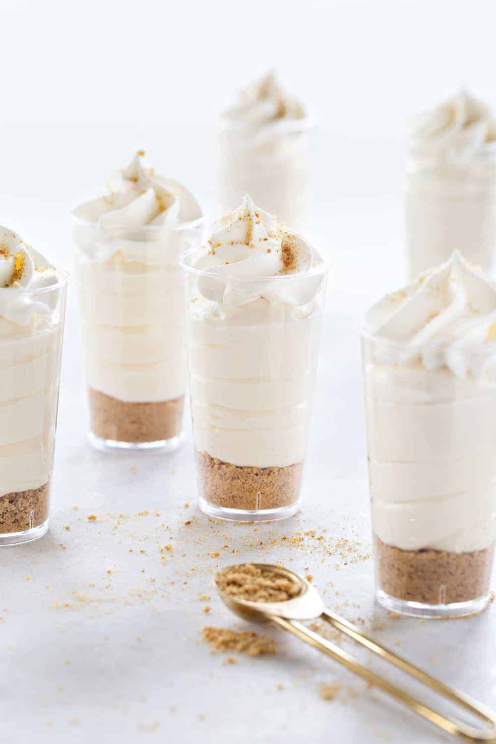 RumChata Cheesecake Pudding Shots are going to be your new favorite adult dessert shooter! So delish!