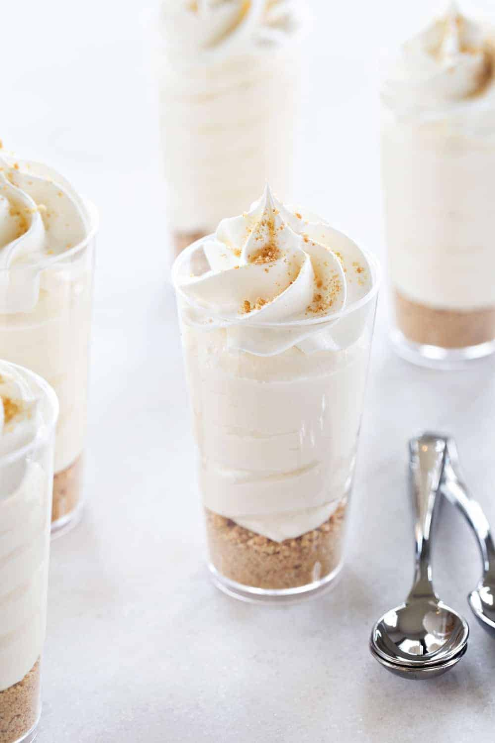 RumChata Cheesecake Pudding Shots come together in less than ten minutes with only 5 ingredients. Simple and so delicious!