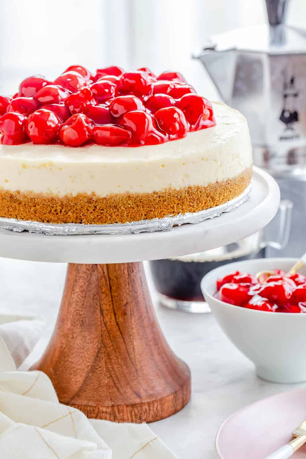 Instant Pot Cheesecake comes together with ease. This recipe is delicious and foolproof!