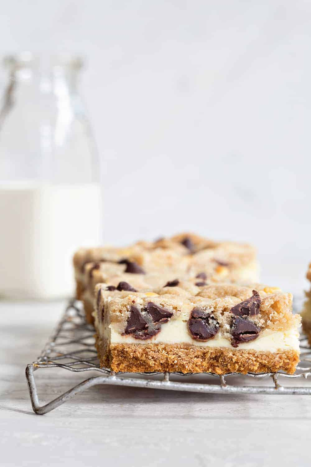 Cookie Dough Cheesecake Bars are fun twist on two classic desserts. So delish!