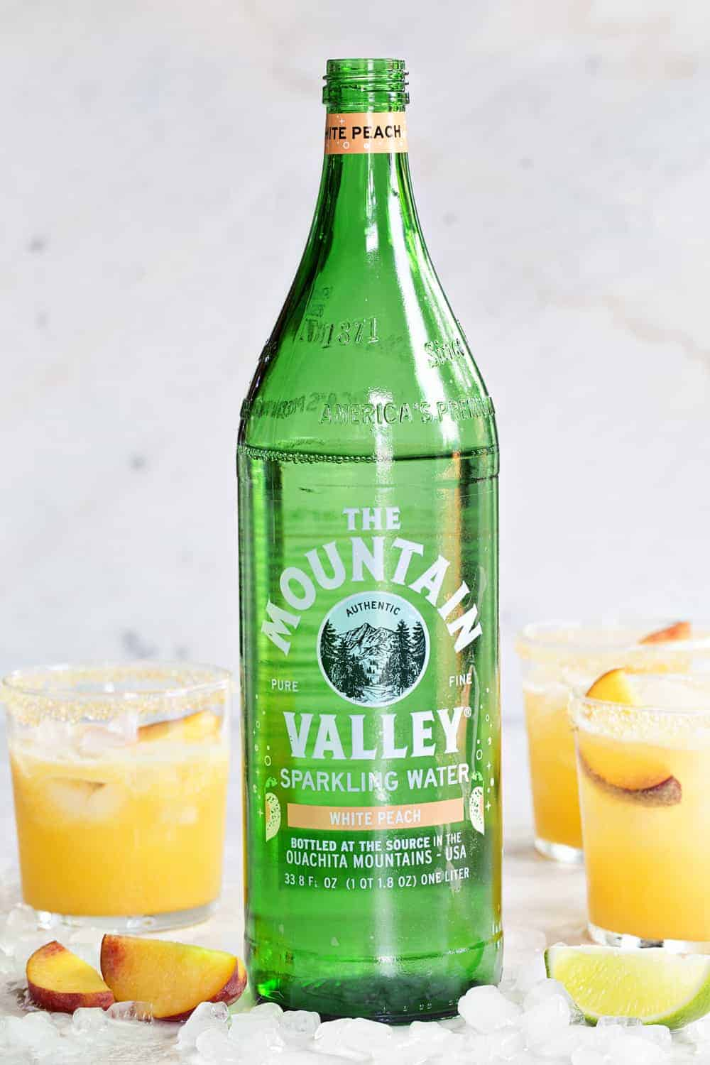 Mountain Valley White Peach Sparkling Water