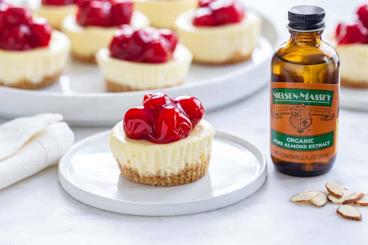 Mini Cherry Almond Cheesecakes are an easy and delicious sweet treat for just about any occasion.