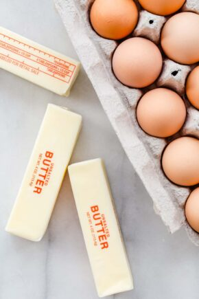 A simple guide on how to bring butter and eggs to room temperature.