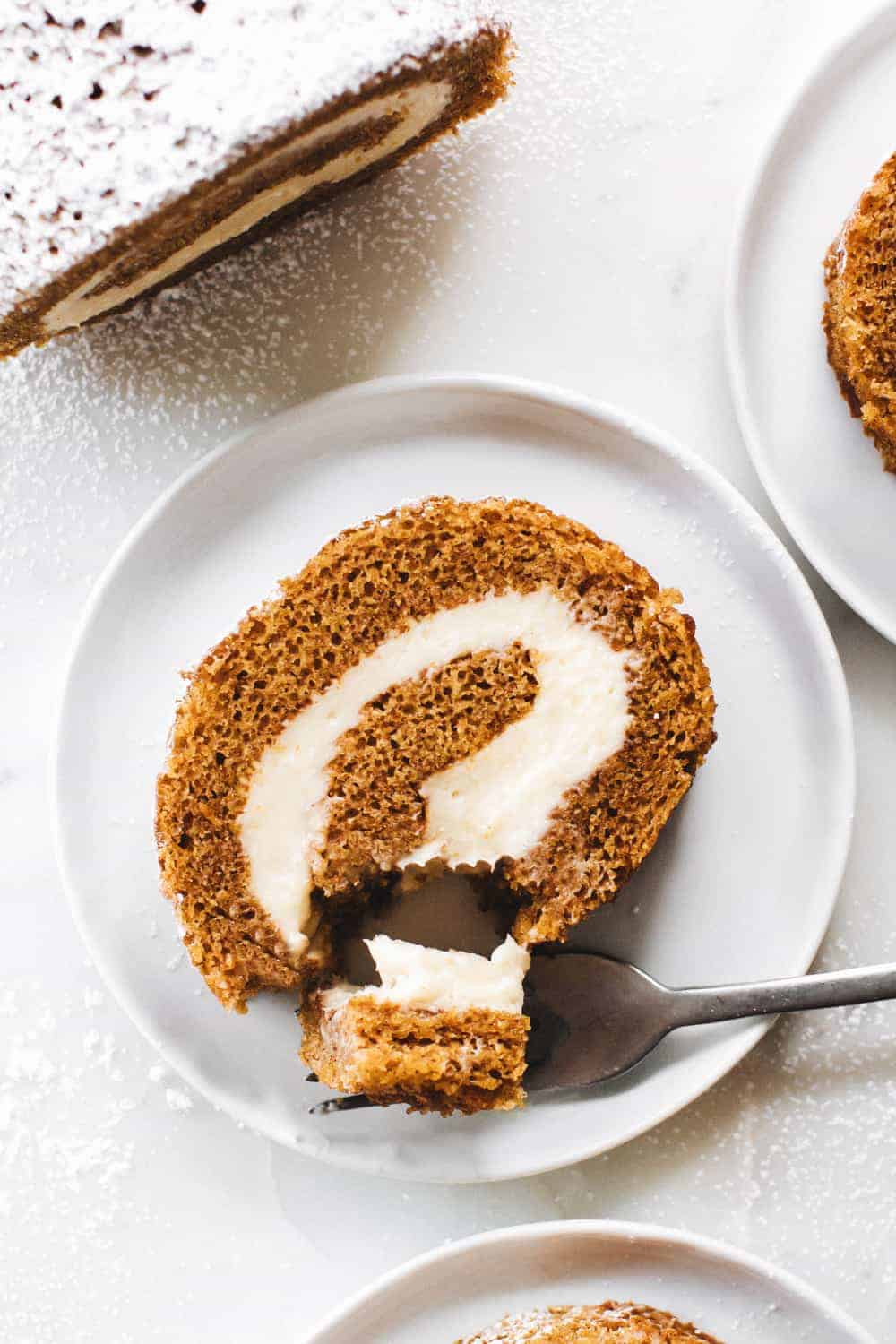 A classic pumpkin roll recipe that is perfect for fall.
