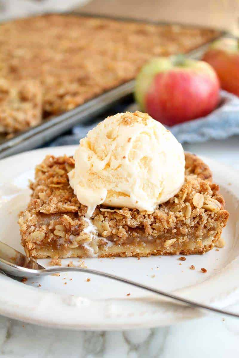 Apple Crumble Slab Pie | Katie Bird Bakes