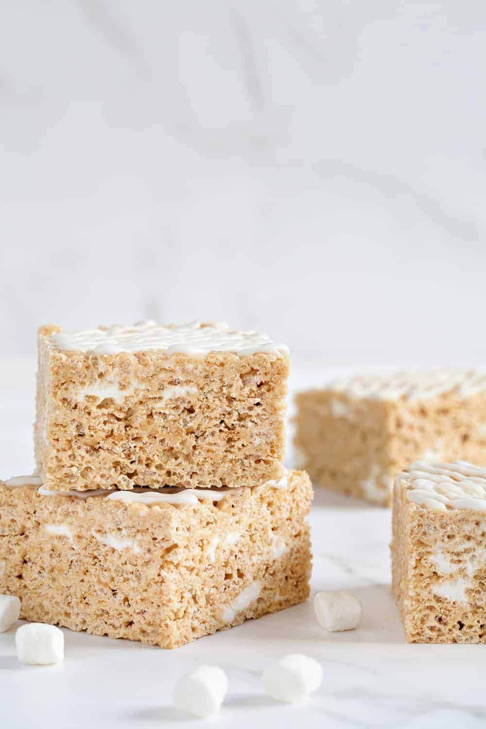 Brown Butter Rice Krispie Treats are so simply to make. They're a fun and delish twist on a classic!