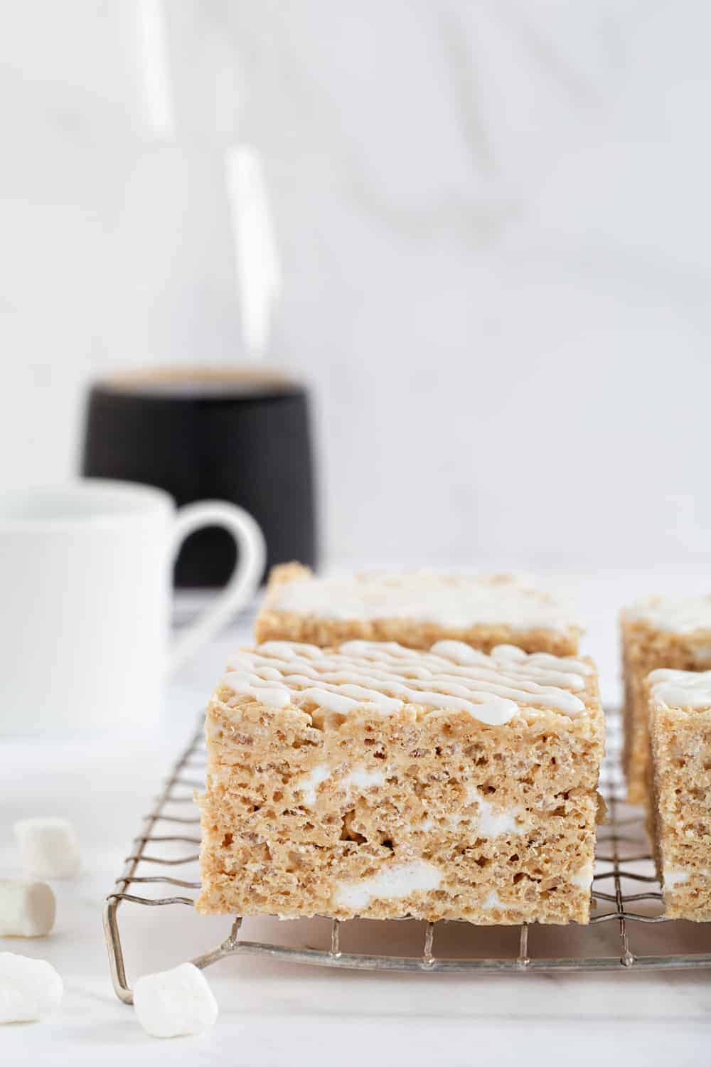 Brown Butter Rice Krispie Treats take your favorite marshmallow treats to the next level. So good!