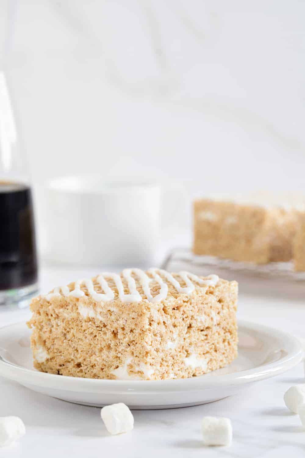 Brown Butter Rice Krispie Treats are a delicious twist on a classic dessert. Hello, brown butter and maple!
