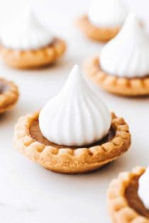 Mini Pumpkin Pies are an entire pumpkin pie in ONE bite! Simple and so delicious!