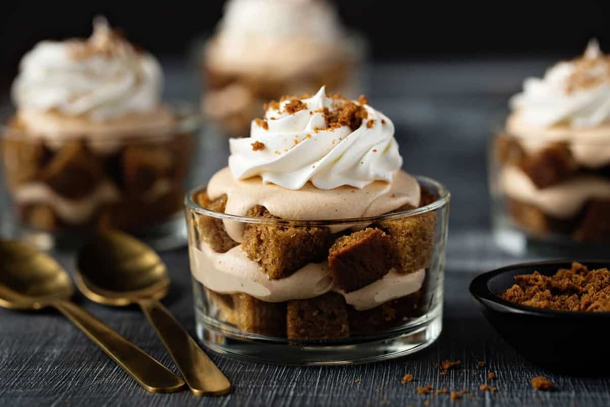 Pumpkin Trifles are simple and delicious. They're easy enough to make on a weeknight, but pretty enough for any holiday table.