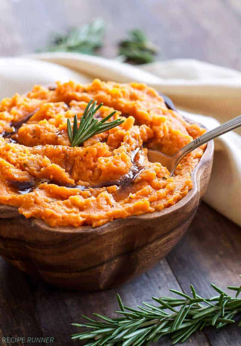 Brown Butter and Rosemary Mashed Sweet Potatoes