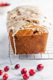 Cranberry Orange Bread is both sweet and tart, bursting with fresh cranberries and the flavor of oranges.