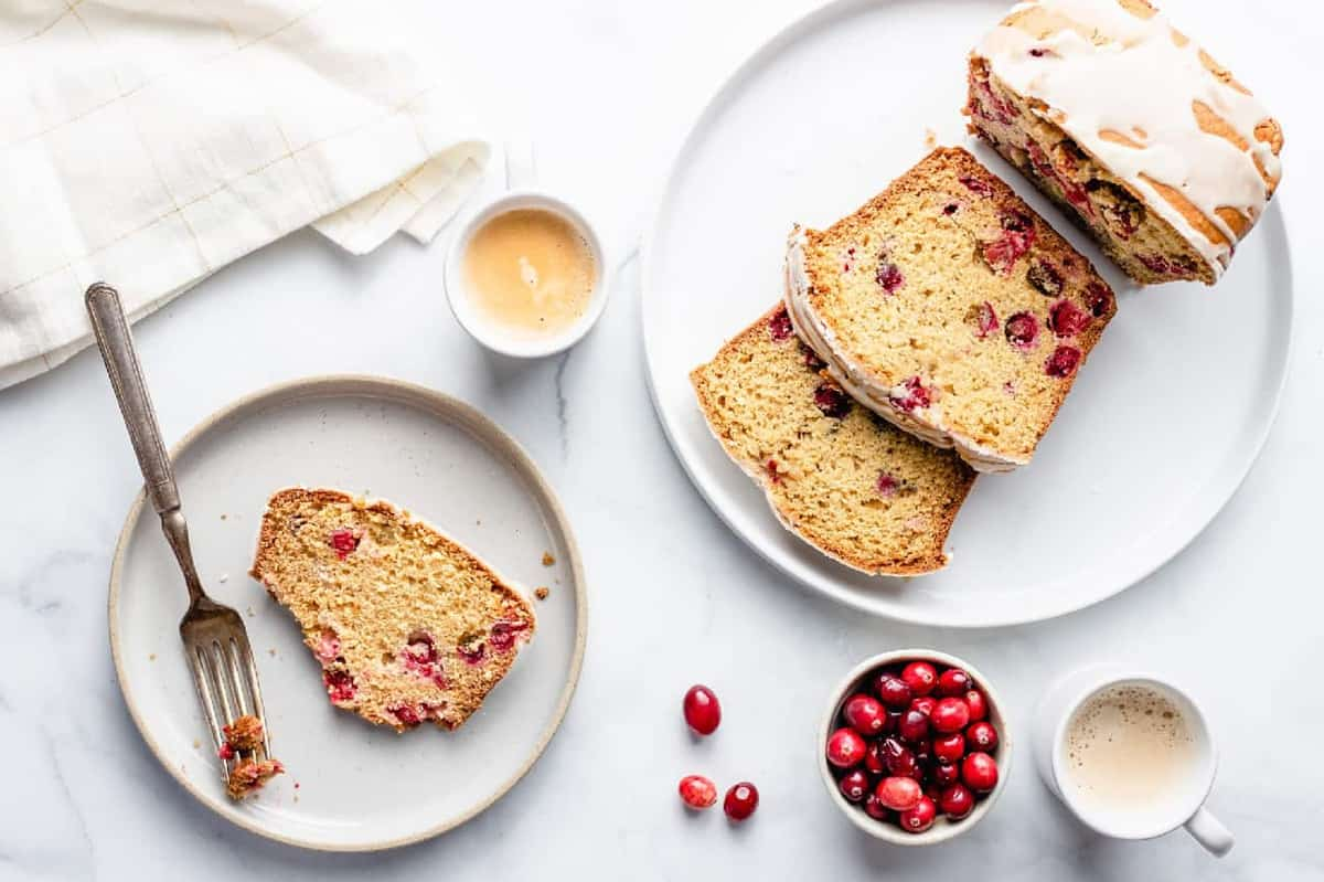 Cranberry Orange Bread is sweet, tart and bursting with fresh cranberries and the flavor of oranges. The perfect breakfast!