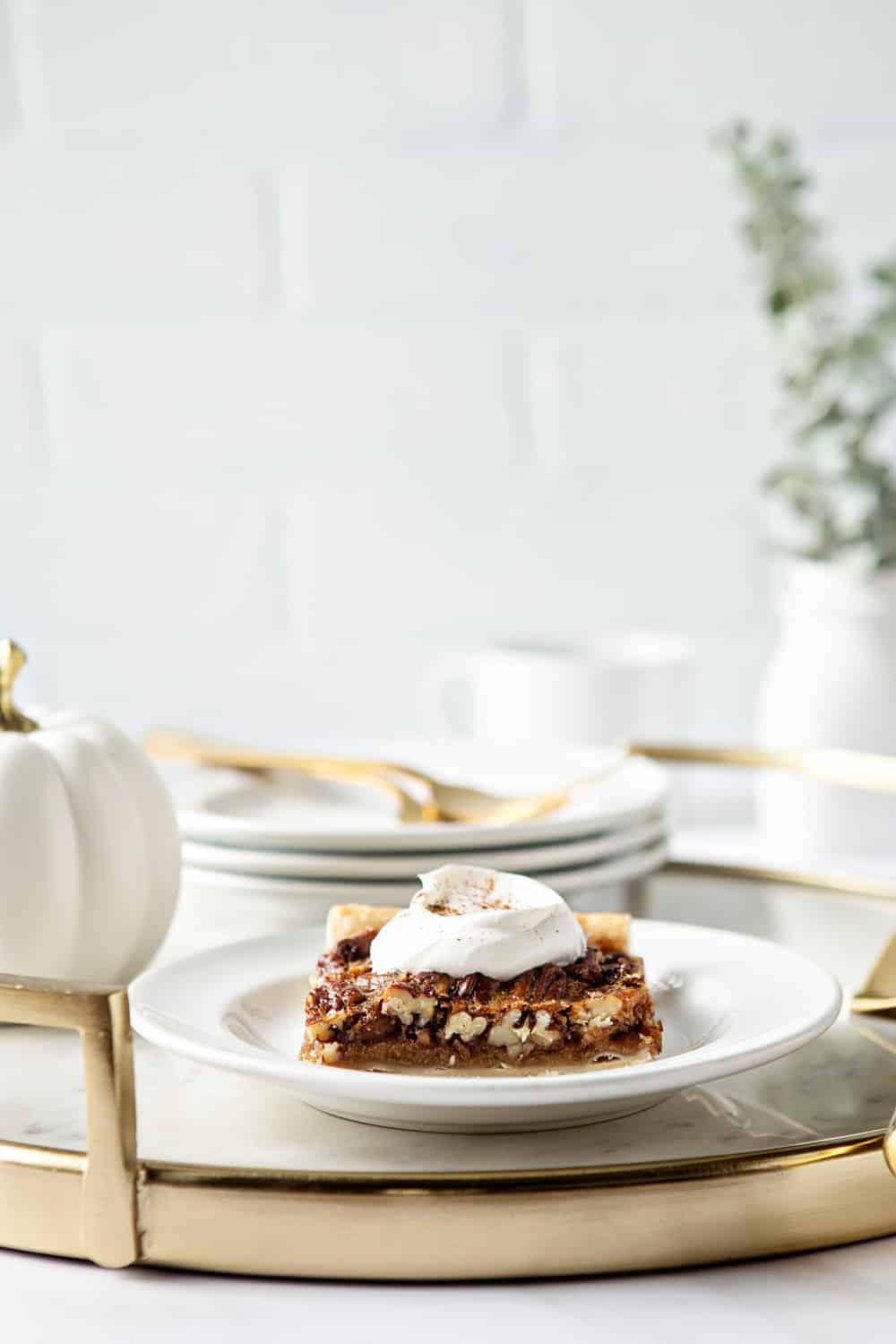 Pecan Slab Pie is simple to make and delicious to eat. Perfect for holiday entertaining.