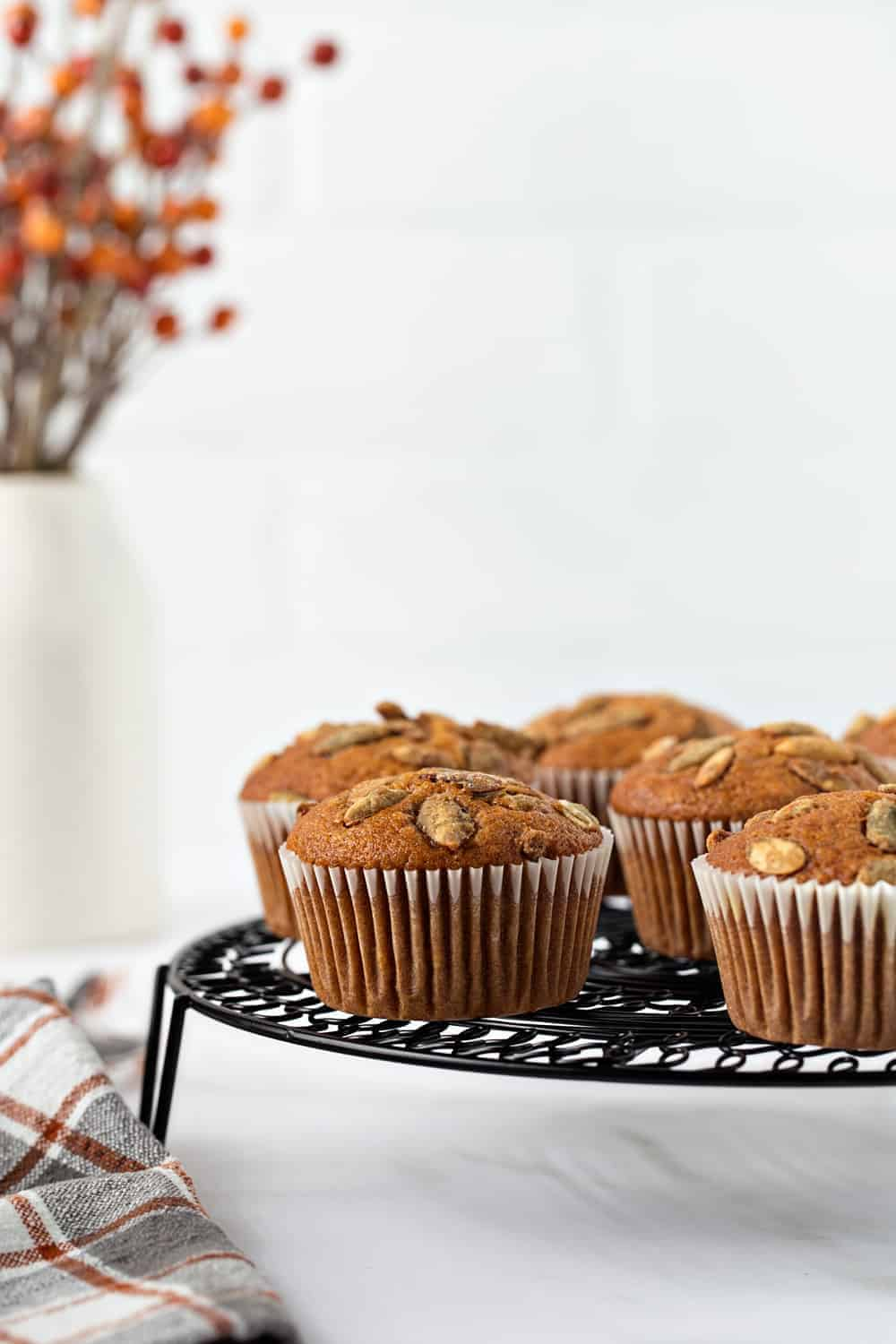 Pumpkin Muffins are perfect for fall. Enjoy them with a cup of coffee, or tea for a delicious breakfast.