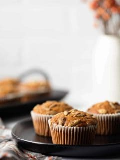 Pumpkin Muffins are loaded with fall spices and full of delicious pumpkin flavor.