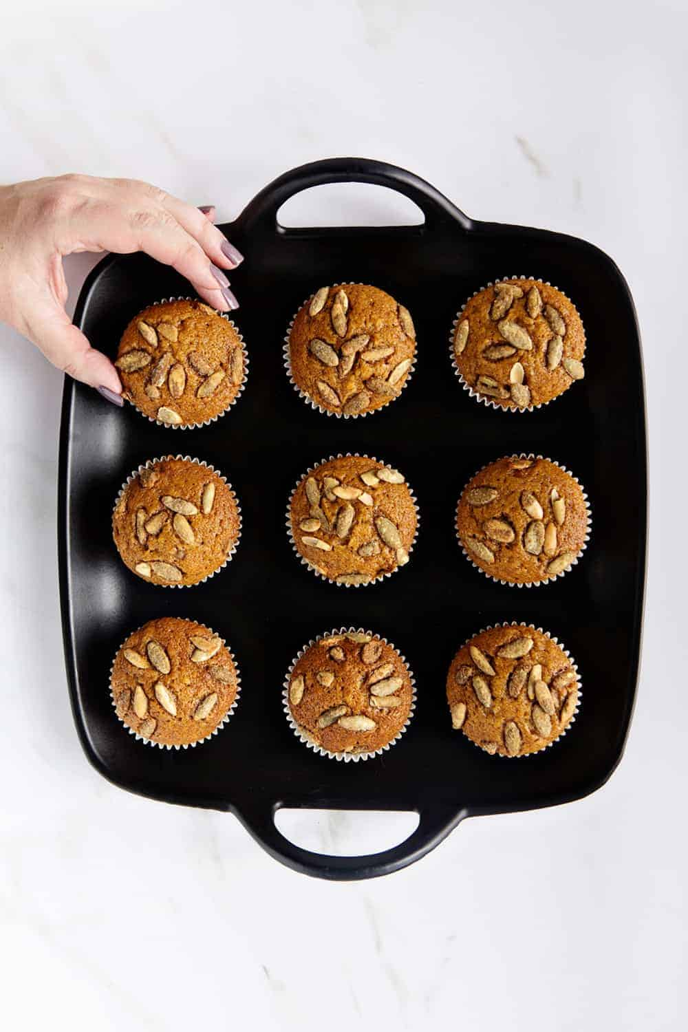 Pumpkin Muffins are perfect for breakfast, brunch, and even dessert. Simple and delicious.