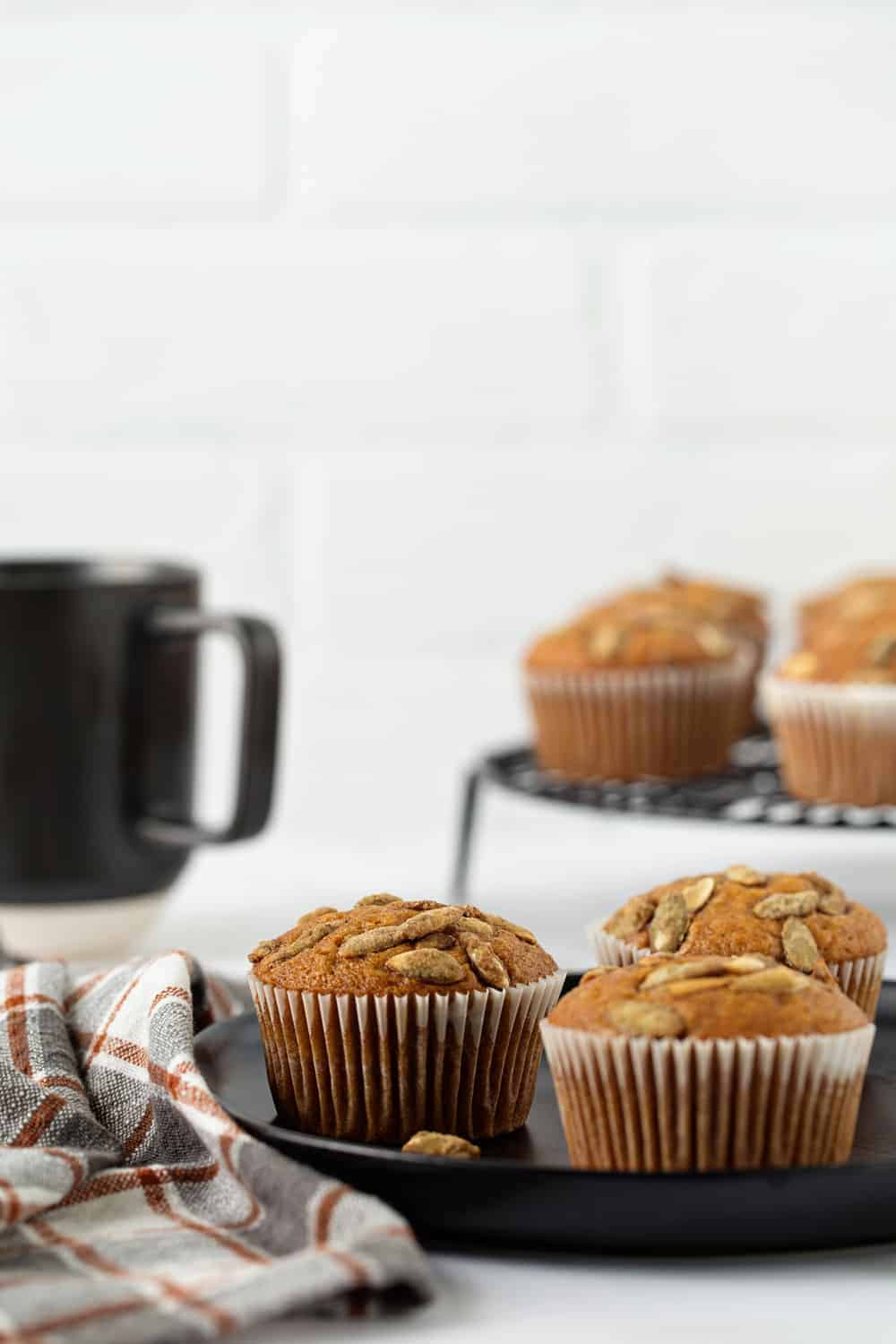 Pumpkin Muffins are loaded with fall flavor and couldn't be easier. The perfect breakfast.