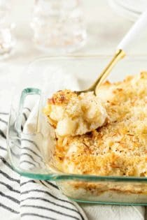 Cauliflower Gratin can be made ahead for an easy holiday side dish